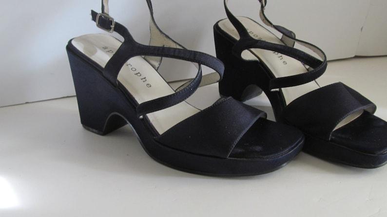 sz 6 Cobalt Blue Wedge Heel Blue Sandals Wedding Shoes Something ...