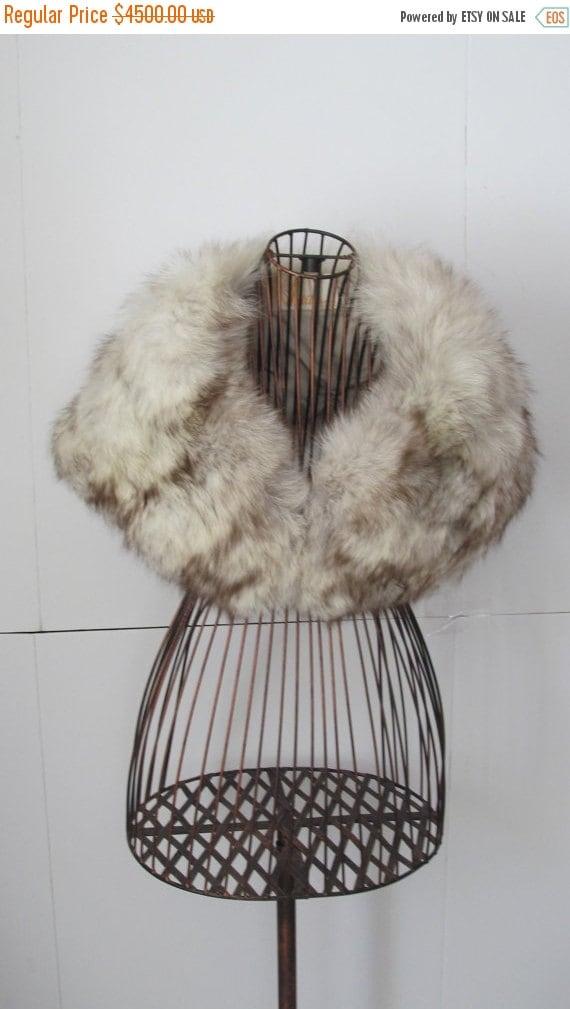 Exquisite Fur Stole Wedding Bolero Silver Blue Fox