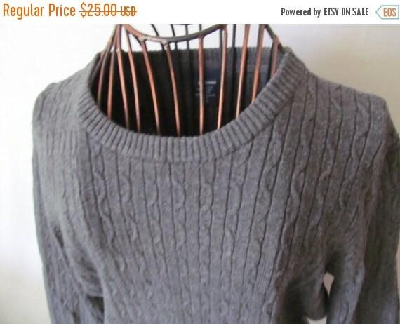 Slate Gray Cableknit Sweater Juniors Sz S Grey Sweater Etsy