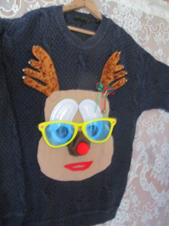 Timberland Ugly Christmas Sweater Christmas Rudolp