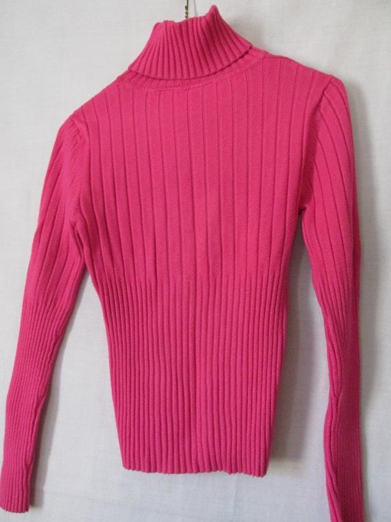 Peony Pink Turtleneck Sweater Juniors sz M 7 9 sz Dark Pink Sweater Pink Apparel Trending on Etsy Womens sz M Tops Turtlenecks sz M