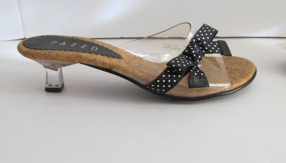 sz 6.5 Sassy Clear Kitten Heels Sandals sz 6.5 Paz