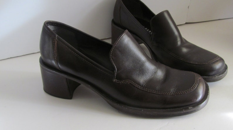 fc82f4b4143 Chunky Loafer Mule Shoes Brown shoes sz 6 5 Shoes Women Brown