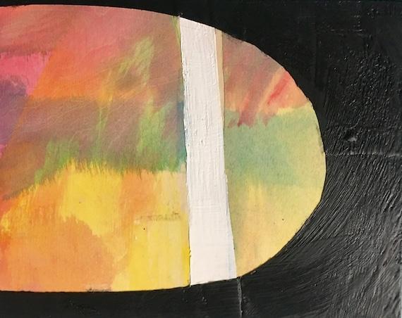 "Through the Dark, 8"" x10"" encaustic painting"