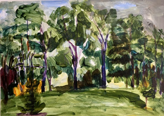 Summer Afternoon, Plein Air