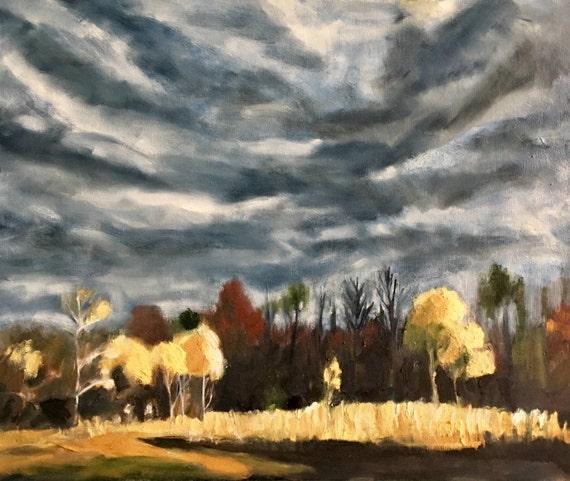 "Original Oil Painting: November Light, 30"" x 24"""
