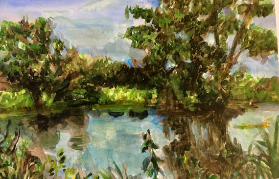 Summer Pond, Plein Air