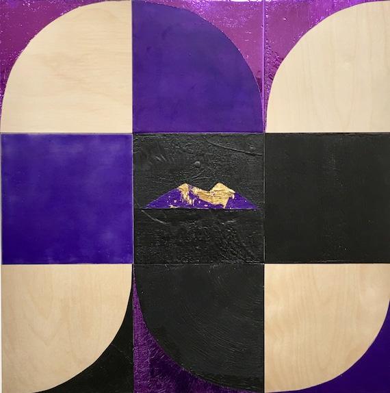 """Bardarbunga, 24"""" encaustic painting"""