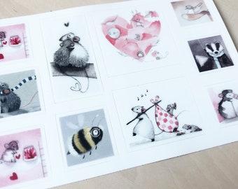D3: Cute Sticker Sheet - Vinyl Stickers