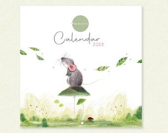 2022 Calendar • Pre-order • Illustrated Animal Art Calendar • Shipped in November 2021