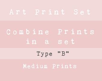 "VALUE ART PRINT Set - Type ""B"" - Choose your favourite Medium prints!"