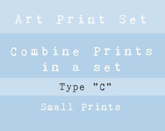 "new • VALUE ART PRINT Set • Type ""C"" - Choose your favourite Small prints!"