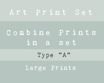 "VALUE ART PRINT Set - Type ""A"" - Choose your favourite Large prints!"