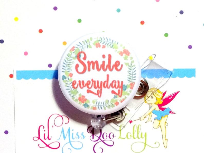 Nurse Badge Reel Nurse Gift Essential Worker Smile Everyday Badge Reel Badge Reel Gift Badge Reel Holder Set of 1