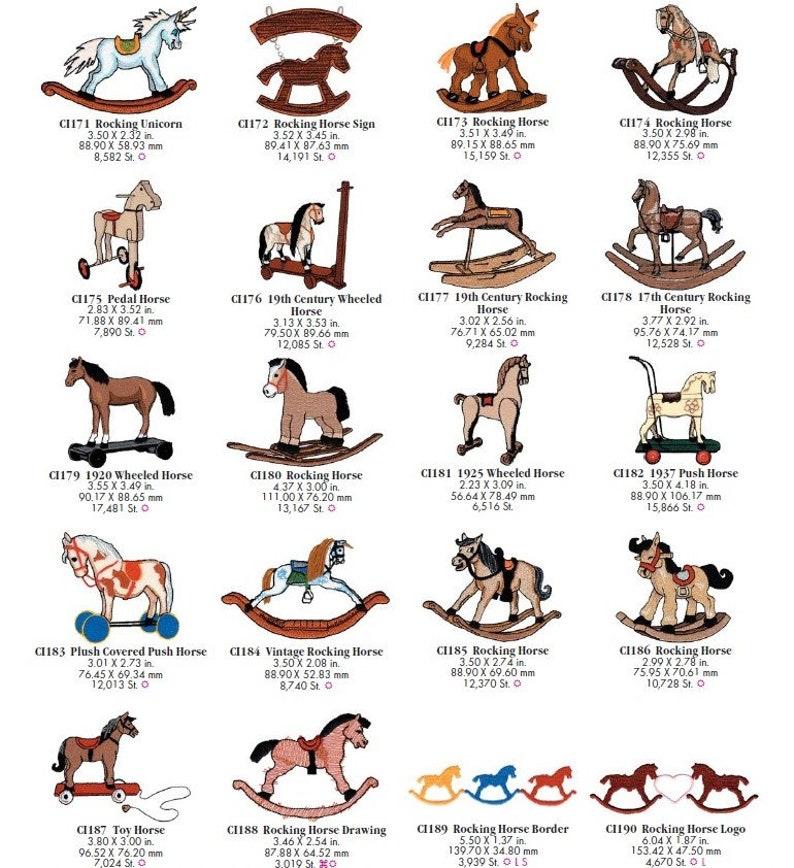 Machine Embroidery OESD per individual Design: Horses