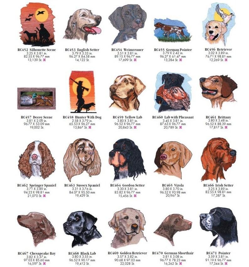 Machine Embroidery OESD per individual Design: Dogs