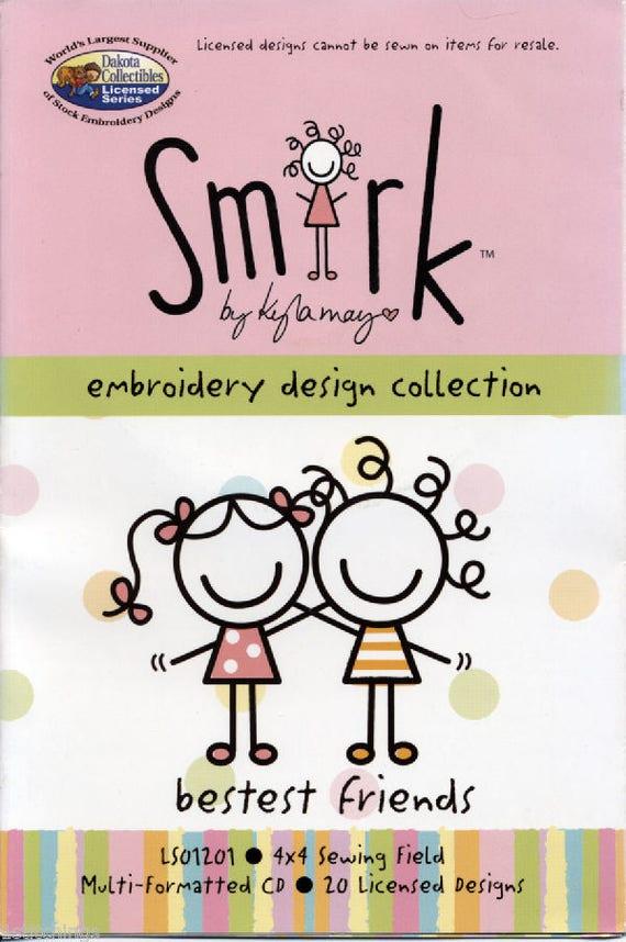 Machine Embroidery Dakota Collectibles Smirk Kyla May Etsy