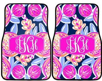 Lilly Pulitzer Car Accessories | Various Designs | Car Accessories | Monogram Car Mats |  Car Accessories | Car Accessory