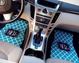 cute car floor mats. Fine Car Quatrefoil Pattern Monogrammed Car Mats New Driver Gift Cute  Accessories Monogram Floor Gift Inside Mats A