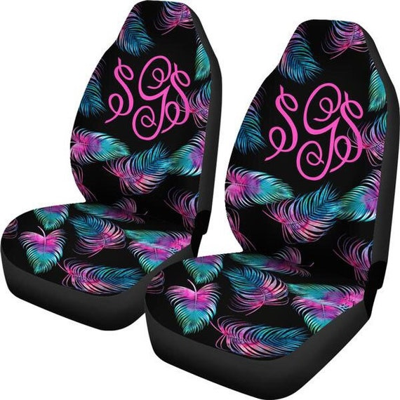 Monogram Seat Covers For Car Personalized Cover