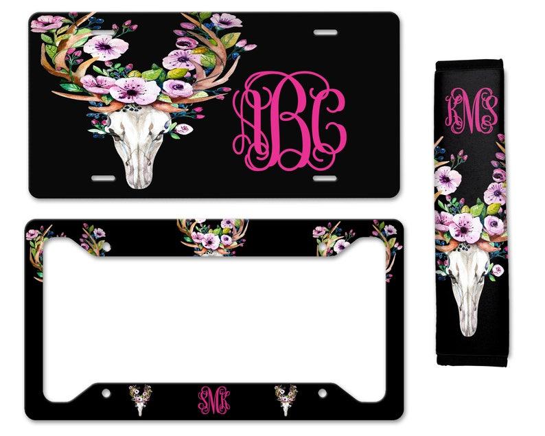 59437366f Car Accessory for Woman Monogrammed Car Floor Mats Bull | Etsy