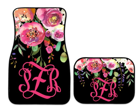 Monogrammed Car Mats Personalized Car Mats Design Your Own Etsy