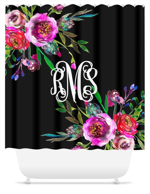 Monogrammed Shower Curtain Gift For Her