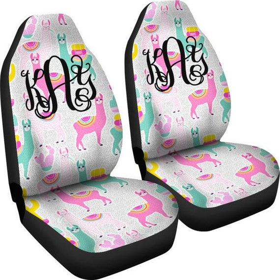 Monogram Seat Covers For Car Preppy Llama Cover