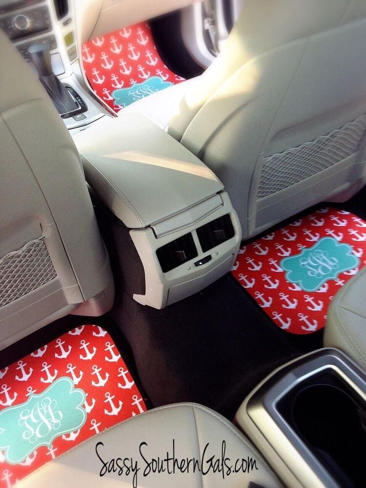 Car Mats Monogram For Women Monogram Car Mats Gift For