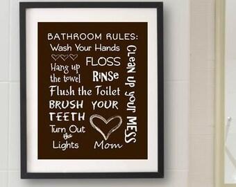 Brown Kids Bathroom Decor Art Bathroom Artwork Printable Art Print Instant Download Bathroom Wall Quote Sign Wash Your Hands