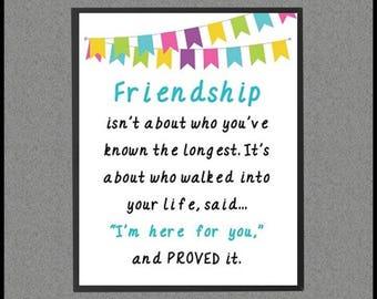 Best Friend Distance Best Friend Decor Best Friend Gift Long ...