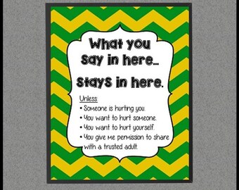 Counseling Confidentiality Poster, School Counselor Decor, Counseling Office Decor, Confidentiality Rules, School Counselor Sign