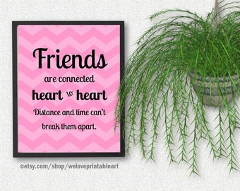 Best Friend Gift Long Distance Friendship Quote Best Gift Etsy