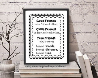 friendship gift friend gift best long distance moving away etsy