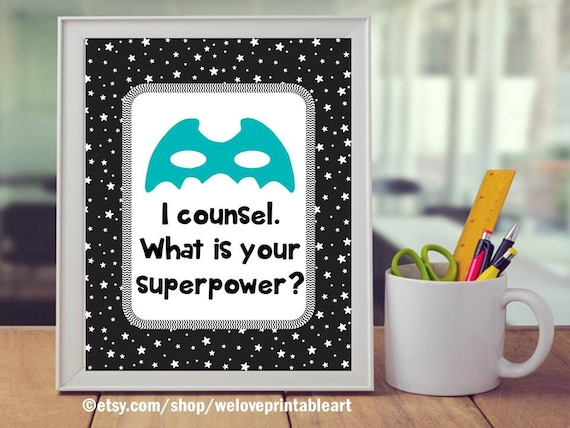 Teal And Black School Counseling Office Decor Printable | Etsy