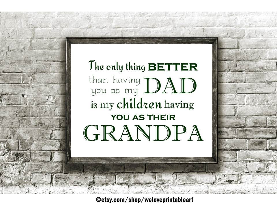 grandpa grandchildren sign fathers day printable poster gift etsy