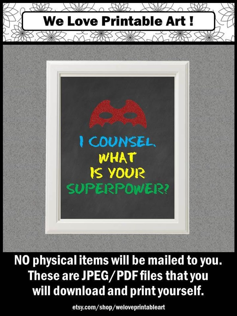 Counselor Appreciation Week Superpower Sign Gift for School image 0