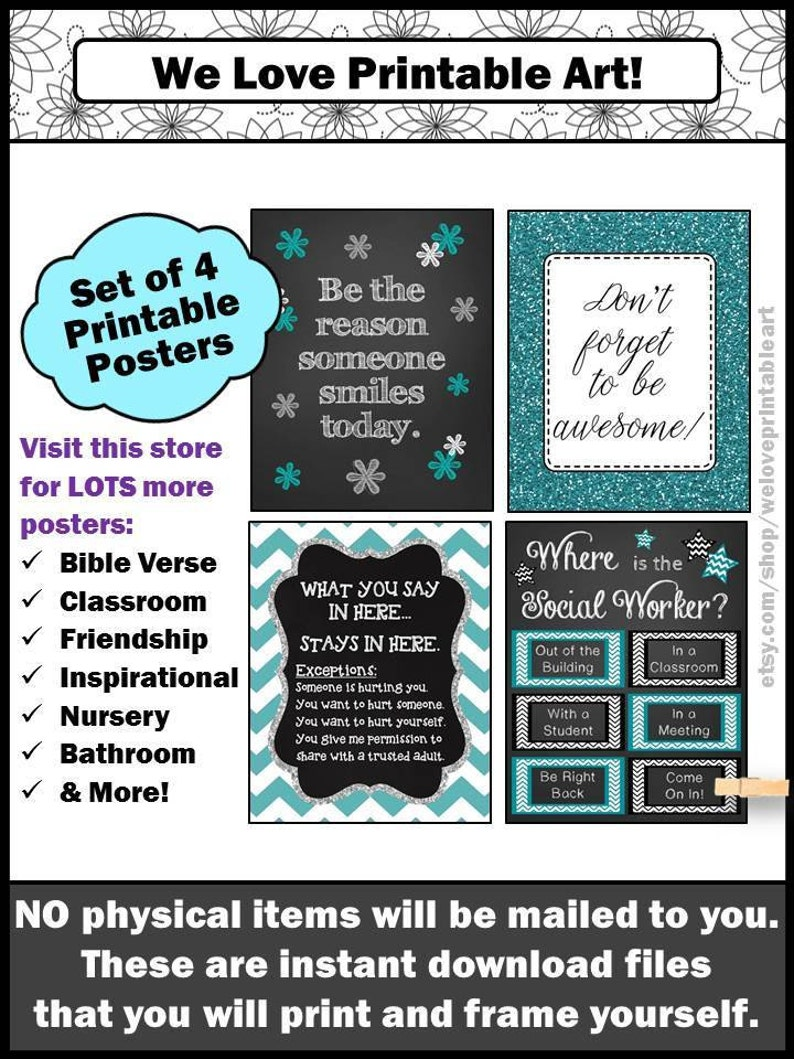 School Social Worker Gift Social Work Gifts End of Year Office image 0