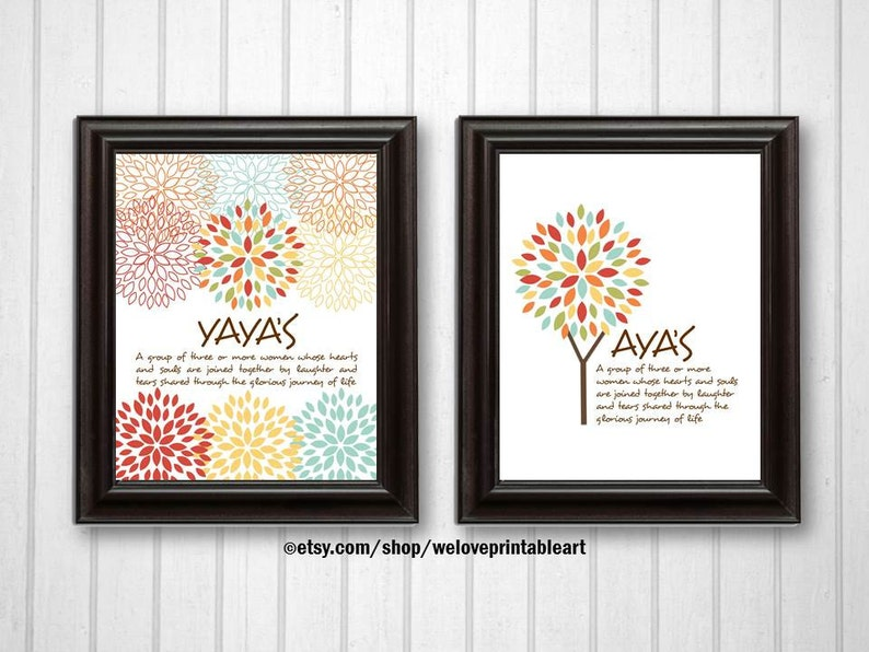 YAYAs Gift Idea Best Friend Wall Art Unique Friendship