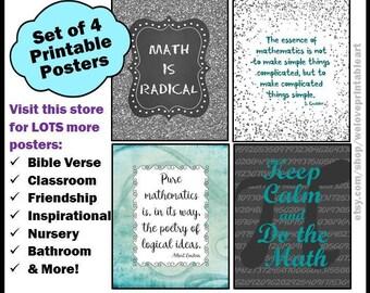 Math Teacher Gift, Math Posters, Mathematics, Math Quotes, Printable Posters, Teacher Classroom, Math Signs, Math Gifts, Math Decor
