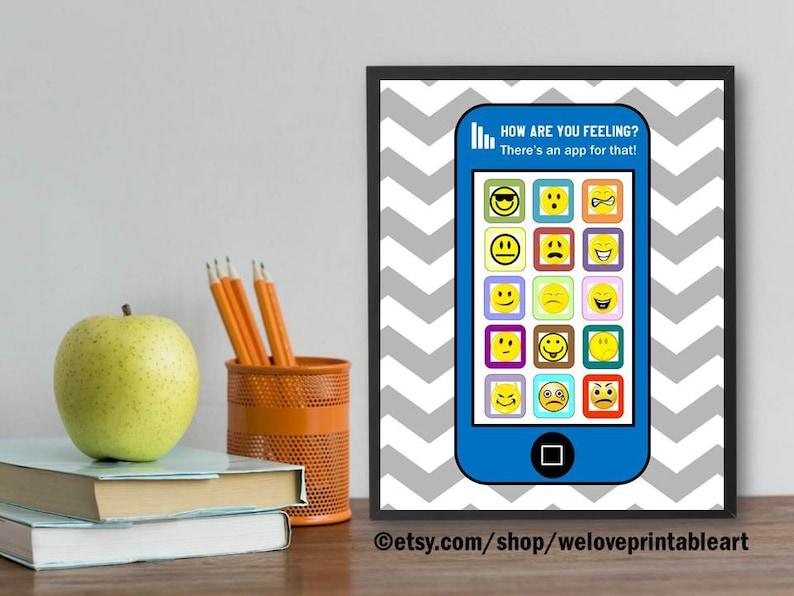 School Counselor Gifts Social Work Feelings Chart Guidance image 0