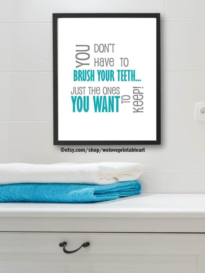 Fine Bathroom Rules Sign Gray And Teal Bathroom Decor Wall Art Kids Bathroom Wall Decor Printable Instant Download You Print It Download Free Architecture Designs Xaembritishbridgeorg