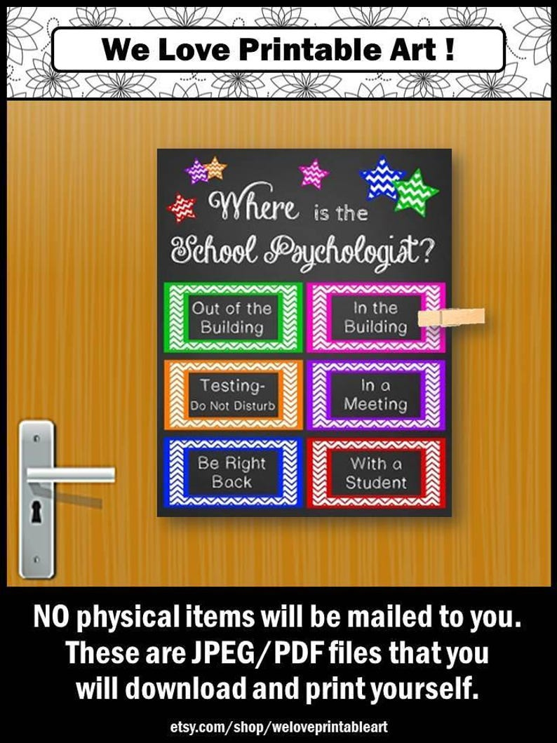 Where Is The School Psychologist Door Sign School Etsy