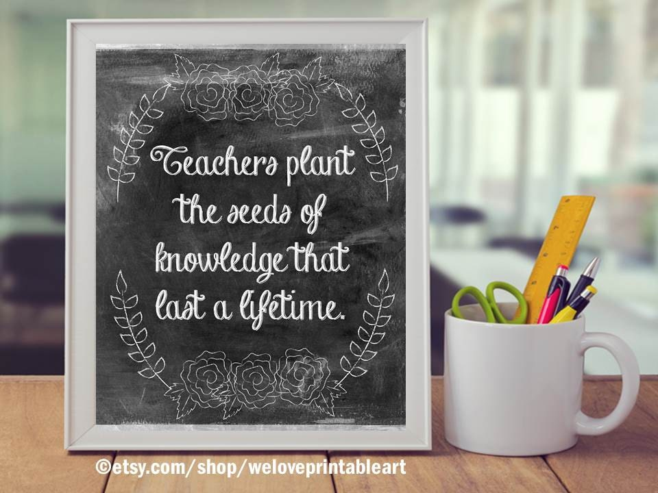 Motivational Quote For Teacher Classroom Decor Printable Etsy