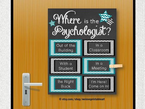 School Psychology Gift School Psychologist Office Decor | Etsy