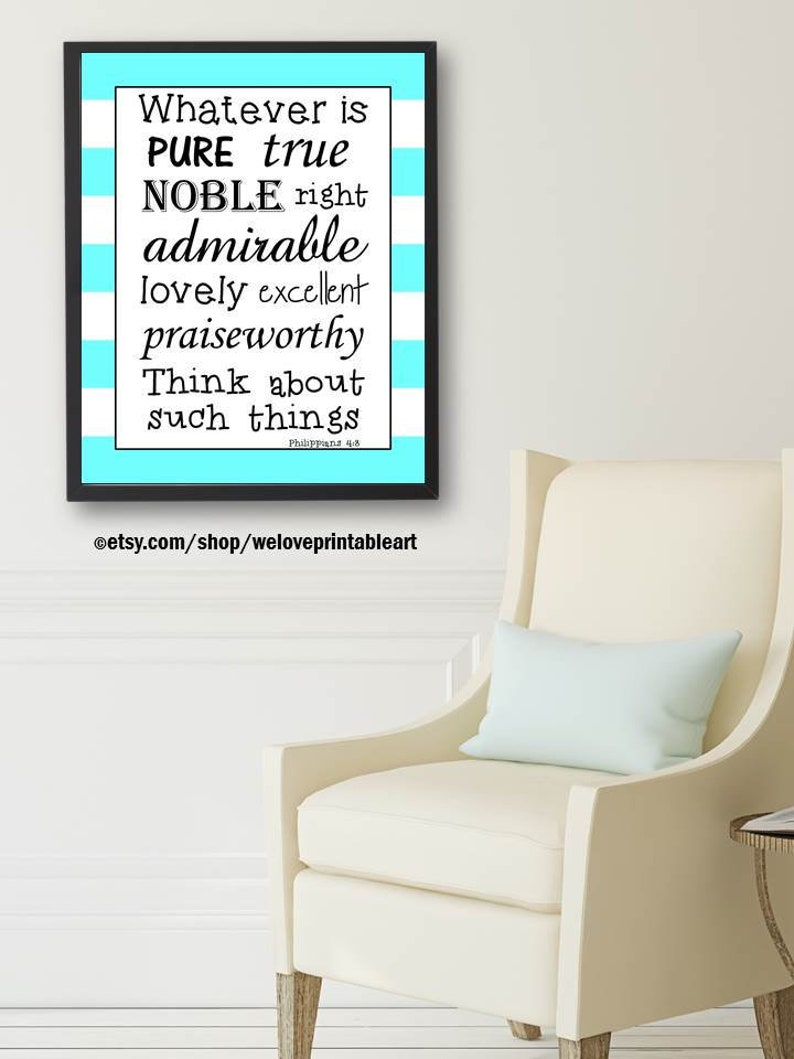 Philippians 4:8 Bible Verse for Boys Christian Gift for image 0
