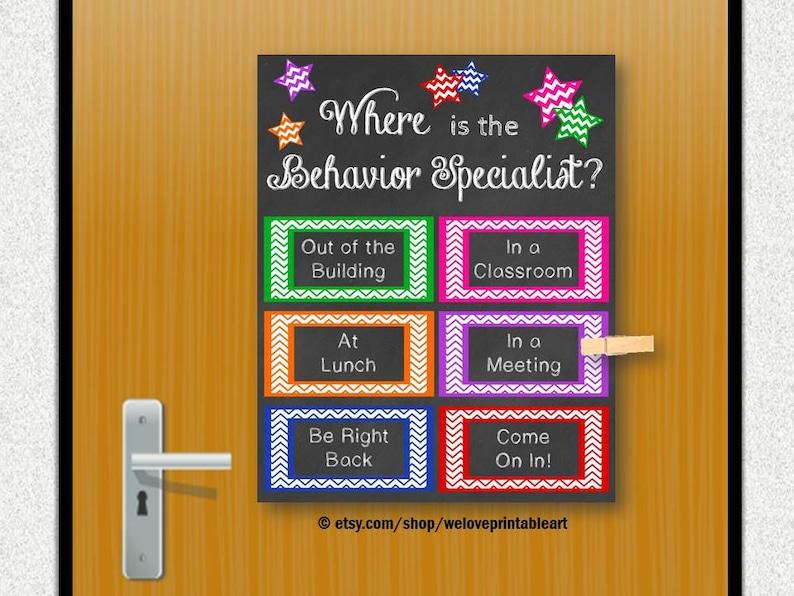 Behavior Specialist Office Decor Door Sign Door Decoration Etsy
