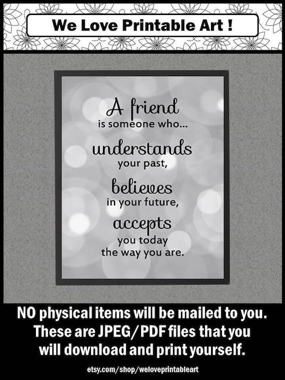 Vriendschap Citaat Vriend Gift Voor Vrouw Vriendschap Etsy