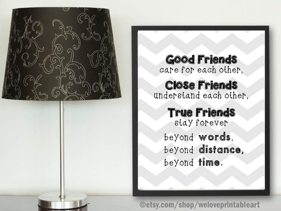 Friendship Distance Friendship Quote Best Gift Best Friend Etsy
