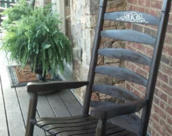 Rocking Chair Monogram Decals  Set of 2